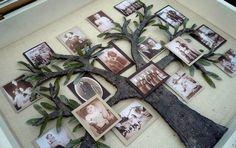 Schauen Sie mal, wie einfach kann man die Familienfotos als Baum machen. Es sieht richtig schön aus und macht man ganz einfach.