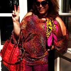 We love print #leopard #pink #red JANE tunic in Tropical Panter www.tessakoops.com