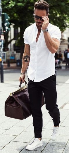 #MensFashion #Sneakers || Casual Mens Outfit Ideas with White Sneakers || Casual Mens Outfit Ideas || Mens Outfits with Sneakers || Mens Fashion Outfits