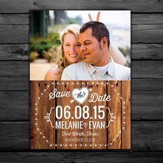 25 Rustic Save the Date Magnets customized by LittleBeesGraphics, $37.00