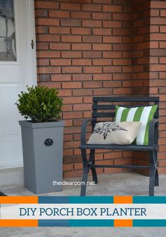 Enhance your entrance with a DIY Porch Box Planter. It's an impressive way to display your favorite plants and flowers.