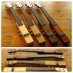 AICHIBI Elekstick Ukulele New style of electric ukulele comes in 4 different wood species. Cigar Box Guitar, Music Guitar, Acoustic Guitar, Cool Ukulele, Cool Guitar, Homemade Instruments, Guitar Design, Custom Guitars, Mandolin