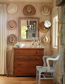 white washed pine walls--Sarah Richardson