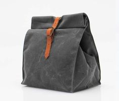 Waxed Cotton Canvas Lunch Sack
