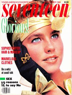 December 1985 cover with Tracy Fitzpatrick 80s Ads, 1980s, Disney Princess Memes, Sophisticated Hairstyles, Vintage Magazines, Teen Magazines, Seventeen Magazine, Vintage Scrapbook, Childhood Memories