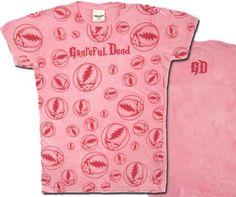 Grateful Dead Juniors T-shirt Lots of Stealies Fitted Girly Tee Shirt