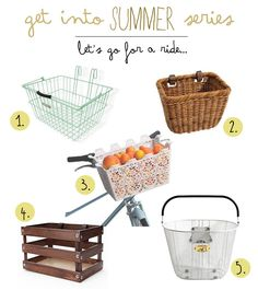 5 Totally Chic Bike Baskets | Wonder Forest: Design Your Life.