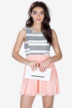 Texture Play A-Line Dress