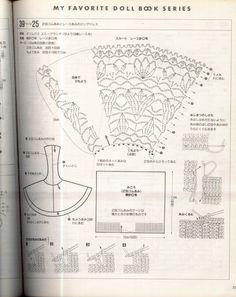 Olha aqui porque eu não gosto de seguir graficos para fazer roupinhas... Peguei esse modelo no Picasa, a parte de cima é de tricô, m...