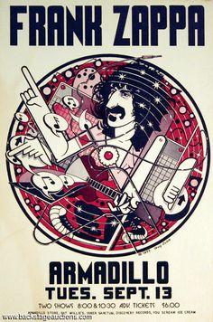 Frank Zappa - 1977 09 13 concert 'Armadillo World Headquarters', Austin, TX, usa