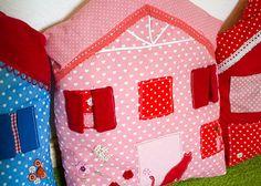 Bunte Häuserkissen   DIY LOVE