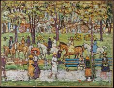 Maurice Brazil Prendergast (American, 1858–1924). Central Park, ca.1914–15. The Metropolitan Museum of Art, New York. George A. Hearn Fund, 1950 (50.25) #newyork #nyc
