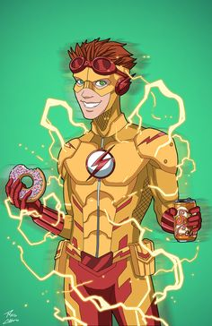 Wally West as Kid Flash, by Phil Cho