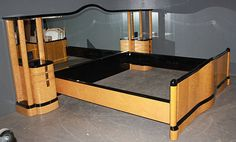 French Art Deco bed. Holy smoke!