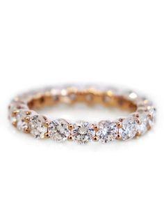 2ct diamond eternity ring in rose gold.