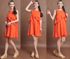 orange+linen+maxi+dress+by+dongli+on+Etsy,+$59.00