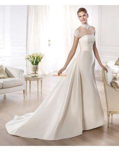 Taft Ärmlös Applikation Bröllopsklänningar 2014