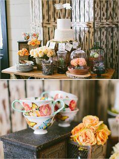 Wedding Cake | Peach and Mint Bridesmaid Luncheon | Wedding Chicks