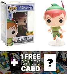 Peter Pan (Hot Topic Exclusive): Funko POP! Disney x Peter Pan Vinyl Figure   1 FREE Classic Disney Trading Card Bundle (14063) *** You can get additional details at the image link. (This is an affiliate link) #FunkoPopDisney