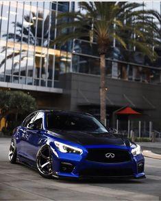 Infiniti Q50 Sport, Nissan Infiniti, Infinity Suv, G37 Sedan, Slammed Cars, Cool Car Pictures, Import Cars, Sports Sedan, Tuner Cars
