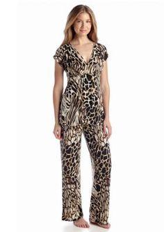 N Natori  Printed Animal Pajama Set