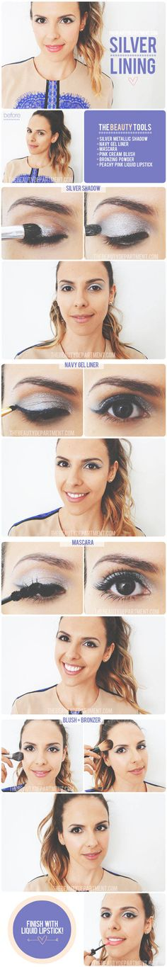 Silver & navy eyes. Different, but very cute!
