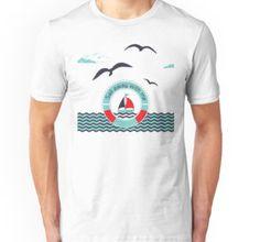 'Sail away with me ' Sleeveless Top by Lövei Éva Sail Away, Sailing, Shirt Designs, T Shirt, Chiffon, Fabric, Mens Tops, Stuff To Buy, Black