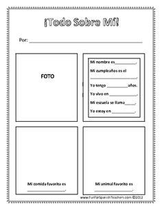 This worksheet is perfect to review basic questions in Spanish. It's also a fun project to do in class.Have fun teaching!Gracias,Carolina...