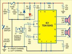 44 Watt Mobile Car Stereo Amplifier - schematic