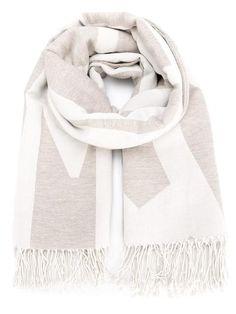 Humanoid slogan print scarf
