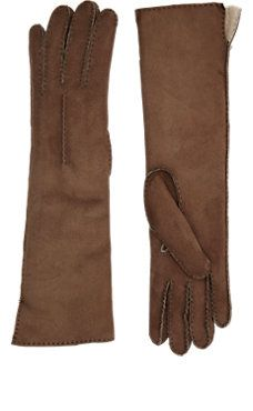 Shearling-Lined Long Gloves