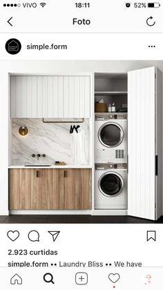 armário -portas para a lavanderia