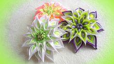 Цветы из лент, своими руками, канзаши, МК