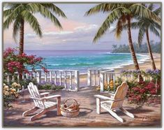 Sung Kim Coastal View painting is shipped worldwide,including stretched canvas and framed art.This Sung Kim Coastal View painting is available at custom size. Belle Image Nature, Art Plage, Beach Scenes, Beach Art, Ocean Beach, Stretched Canvas Prints, Belle Photo, Landscape Paintings, Framed Art