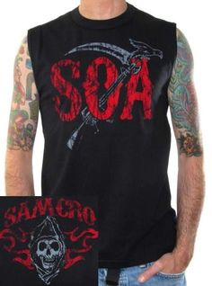 Click for Full Size Image of Sons Of Anarchy, Muscle Shirt, Crow Wings