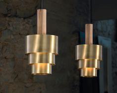 Reflections, Product, Fambuena luminotecnia s. Brass Pendant Light, Light Crafts, Wood Pieces, Lighting Design, Reflection, Pendants, Ceiling Lights, Led, Metal