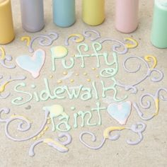 DIY puffy sidewalk paint is so much fun for the kids! DIY Sidewalk chalk that is easy to make and will have the kids outside having fun! diy crafts for kids videos Homemade Sidewalk Paint, Sidewalk Chalk Paint, Homemade Paint, Sidewalk Art, Diy Crafts For Teens, Fun Arts And Crafts, Fun Diy Crafts, Craft Activities For Kids, Kids Diy