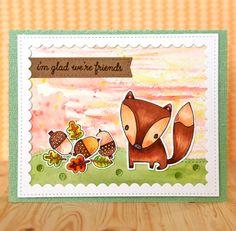 "Suzy Plantamura | ""One Stamp, Five Ways"" - SSS/Reverse Confetti Forest Friends | I'm Glad We're Friends"