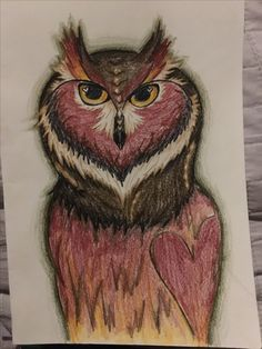 Owl drawing <3 by me