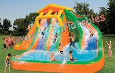 0.55mm de Calidad Comercial de Lona De PVC Kids gigantes al aire libre inflables toboganes Juguetes