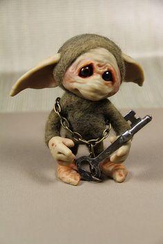Ack! He's too cute! I want him! Key Keeper by kathndolls, via Flickr
