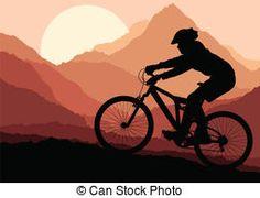 Mountain bike rider in landscape background illustration vector . - Mountain bike rider in landscape background illustration vector … - Mountain Biking Quotes, Mountain Bike Races, Mountain Biking Women, Mountain Bike Helmets, Kirigami, Landscape Background, Vector Background, Bike Tattoos, Bike Illustration