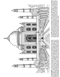 Taj Mahal - Wonders of the World sample pages @ Dover Publications