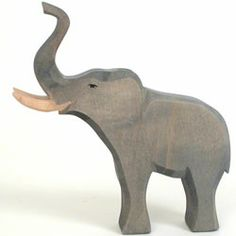Bull Elephant by Ostheimer: Hand-shaped and painted with non-toxic, plant-based watercolors. #Toys #Wooden_Toys #Elephant
