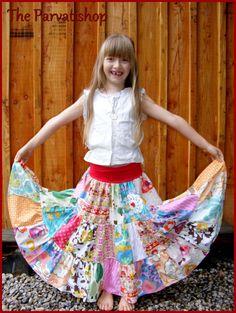 Maxi jupe gitane boheme patchwork hippie boho maxi skirt upcycling ecofriendly de la boutique theparvatishop sur Etsy