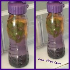 My first detox water , blue berrys , lemon, mint #vegan #veganfoodlove #detoxwater #detox #lemon #blueberry #mint Vegan Food, Vegan Recipes, Water Bottle, Photo And Video, Drinks, Instagram, Witches, Drinking, Beverages