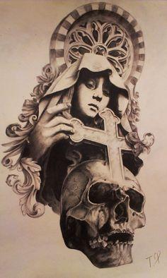Tattoo религиозные эскиз - tattoo's photo In the style Religio Jesus Tattoo Design, Anchor Tattoo Design, Clock Tattoo Design, Angel Tattoo Designs, Religion Tattoos, Lowrider Tattoo, Christ Tattoo, Chicano Art Tattoos, All Black Tattoos