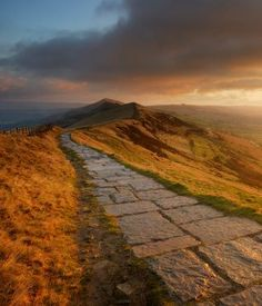 Great Ridge, from Mam Tor, Peak District National Park.  Part of a great circular walk out of Castleton or Edale.