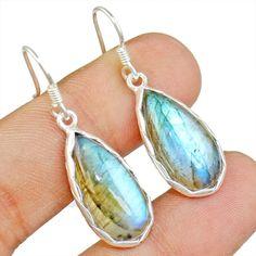 Labardorite  925 Sterling Silver Earring Allison Co Jewelry E-1570 #Allisonsilverco