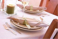 How to Set a Table from Taste of Home -- including: Basic Setting, Informal or Luncheon, Formal Dinner and Making a Sit-Down Dinner Special